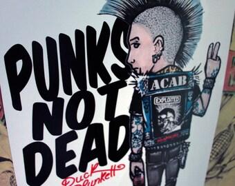 "Illustration ""Punks Not Dead"" DinA3 29,7cm x 42cm"