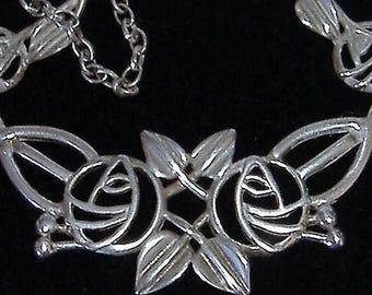 RENEE MACKINTOSH SILVER hallmarked necklace art nouveau style vintage