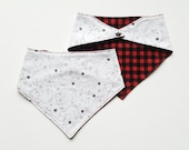 Bandana Bib - Lumberjack Bear| unisex | trendy baby clothes | baby gift | Handmade bib | teething | hipster style baby | drool bib