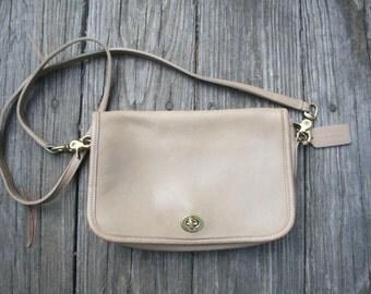 coach gray patent leather handbag iqiq  Vintage Tan Leather Coach Dinky Purse // Coach Cross Body Handbag Bag //  Small Leather Coach Bag // Made in USA