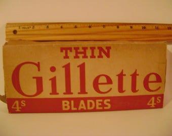 Early Gillette Razor Blade Box