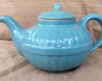 Hall China 1940's Pastel Blue Murphy Teapot from Victorian Series