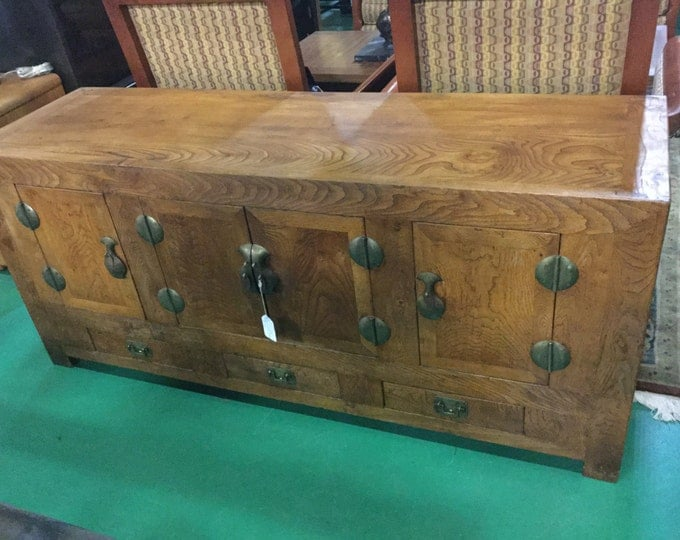 Late 19th century Camphor wood Chinese side Board