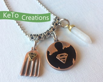 Superman Necklace, Super Hero Necklace, Gifts For Kids