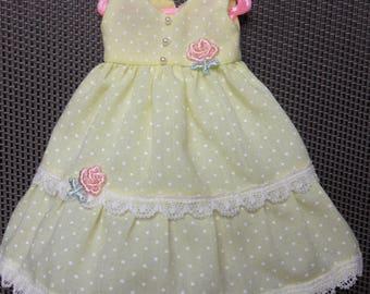 BlLYTHE DOLL-- Lemon  Spot Dress --