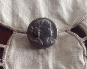 Vintage Grey Glass Button...
