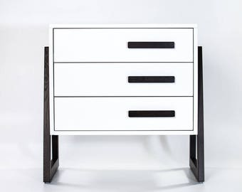Bedroom chest of drawers ''Junior'', kids chest of drawers, kids room dresser, teenager furniture, white chest of drawers