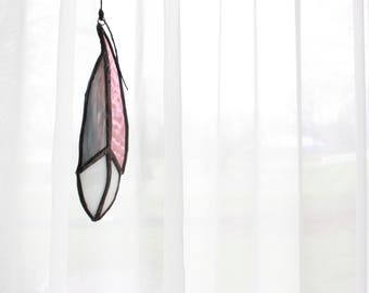 Purple | Light Purple | Feather | Stained Glass | Boho | BohoChic | Spring | Decor | Suncatcher | Window Jewel