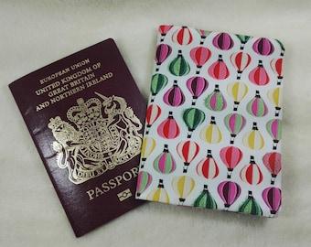 Hot Air Balloon Fabric Passport Cover Sleeve