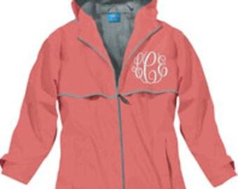 Monogrammed Charles River Rain Jacket