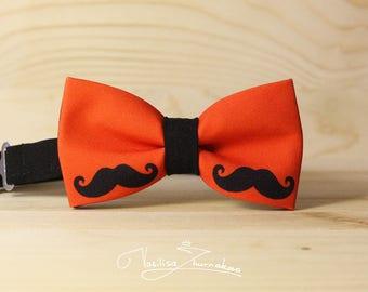black mustache muchacho bow tie - bowtie