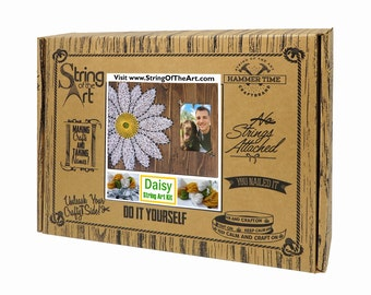 Diy string art kit picture frame love string art wedding for Picture frame crafts for adults