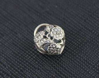 New Authentic Pandora Charm Bead Floral Heart Padlock 791397