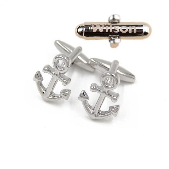 Anchor Cufflinks,personalized,Nautical Gifts cufflinks, Silver cufflinks, maritime gifts, Classic cufflinks, mens jewellery,sailor gifts