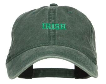 Mini Irish Embroidered Washed Cap