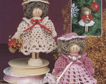 Clothespin Ornament Dolls, Annie's Attic Crochet Pattern Booklet 879310 NEW