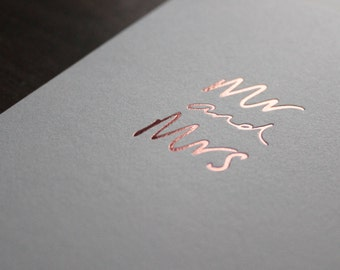 Mr and Mrs - Wedding Day, Marriage, Love Card