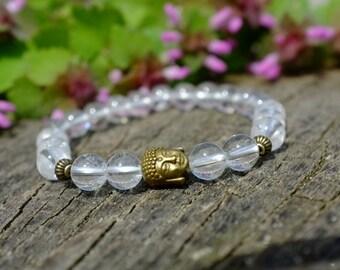 Bracelet en Cristal de roche pour lithothérapie