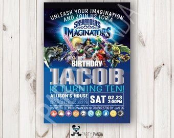 Skylanders Imaginators Birthday Invitation / Skylanders Imaginators Party / Skylanders Birthday Invitation