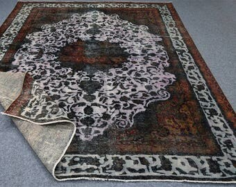 "9x12 over-dyed rug, antique rug, 9x12 Persian over dyed rug,redesign rug. Size:9'4""x11'10"""