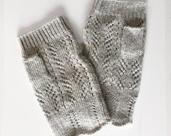 PIPPA FINGERLESS GLOVES - crochet gloves, fingerless gloves, summer gloves, tea party gloves, bridal gloves, wedding gloves, grey gloves