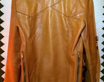 RESERVED- East West Leather Jacket- Vintage