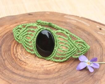Onyx bracelet macrame bracelet