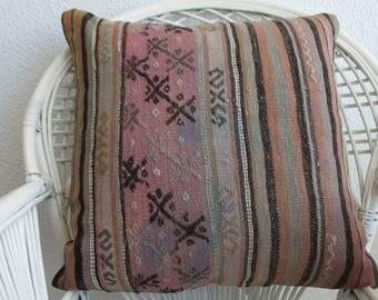 handwoven kilim pillow boho pillow throw pillow 24x24 turkish kilim pillow decorative kilim pillow home decor cushion cover 750