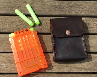 Leather Nerf Spare Magazine Pouch