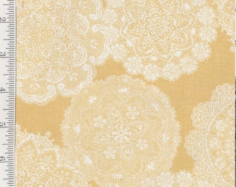 Prima - Per Yd - Paintbrush Studio - Lace on Yellow
