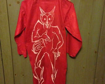 ON SALE-1940's devil costume- tail attached- rare find-WAS 125