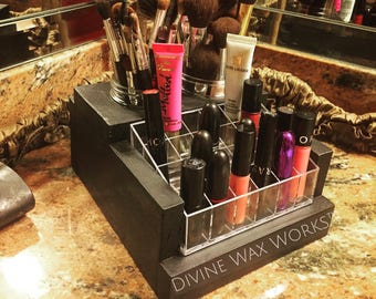 Makeup Organizer - Makeup Brush Holder - Acrylic - Makeup Storage - Lipstick Holder - Lipstick Organizer