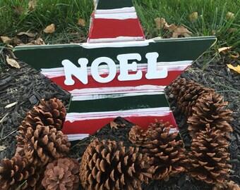 Christmas Door Hanger / Wooden Decor / Noel / Holiday Door Decor