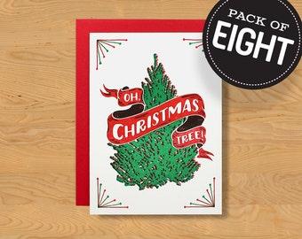 "Box of 8 ""Oh, Tree!"" Holiday Card A7"