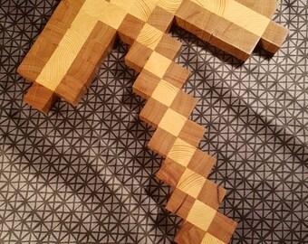 Wood Minecraft Pickaxe