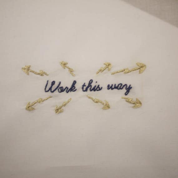 Work this way - kit EASY embroidery