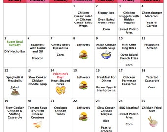 February 2017 Budget Menu Plan | Weekly Grocery Lists & Recipes | Budget Menu Plan
