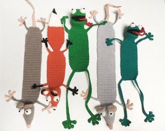Gehaakte Dieren Boekenlegger / Crochet Animal Bookmark