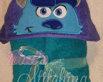 Monsters Inc Sully Inspired Hooded Bath Towel