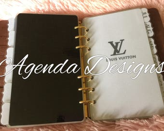12 Monthly Tabbed Dividers LV Inspired