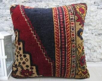 Ottoman coussin de tapis 20x20 decoratif coussinde 20x20 morocco floor pillow bohemian pillow embroidery desing throw pillow  boho pillow