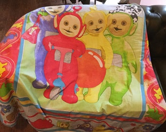 Vintage teletubbies single duvet cover dated 1996