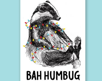 Bah Humbug | Badger Holiday Card