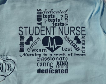 Student Nurse Monogrammed Nursing Student Customized Personalized LPN RN MA