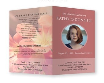 Funeral Template - Photoshop PSD *INSTANT DOWNLOAD*