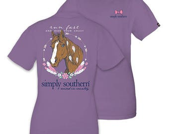 "Simply Southern ""Runfast"" T-shirt W/ Monogram Option"