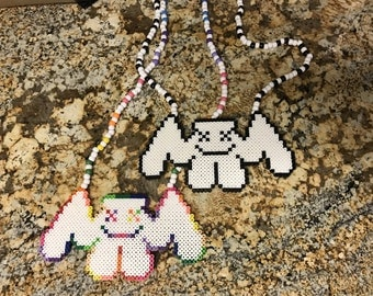 Marshmellow Perler Necklace (Shipping Included)