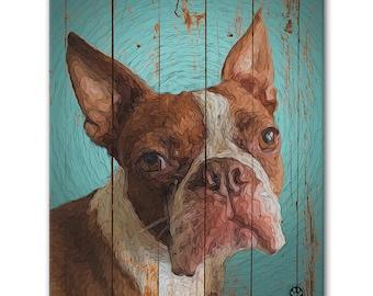 """8"""" X 10"""" Custom Pet Portrait Standout (Rustic Style)"""