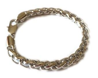 Silver Wheat Chain
