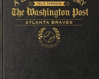 Washington Post Atlanta Braves Baseball Book - Leather